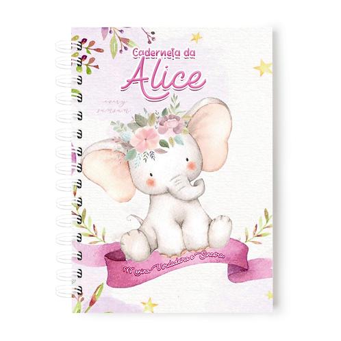 Caderneta de Vacinas- Tema Elefantinha