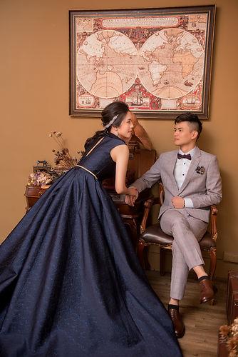 台中婚紗攝影棚拍攝,復古英倫之婚紗風格