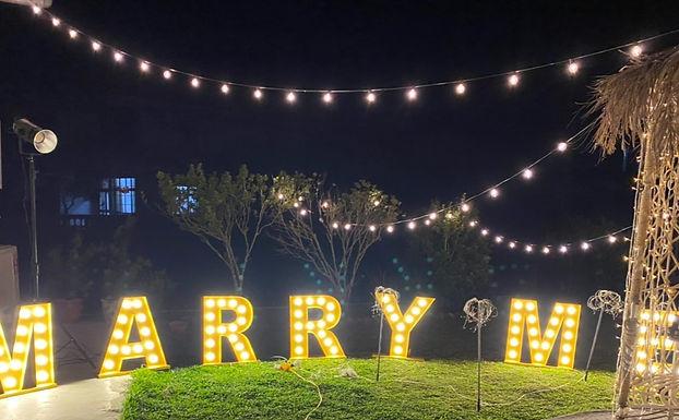 求婚道具租借-天空燈串 │ 台中求婚布置、苗栗求婚布置、艾杜創意