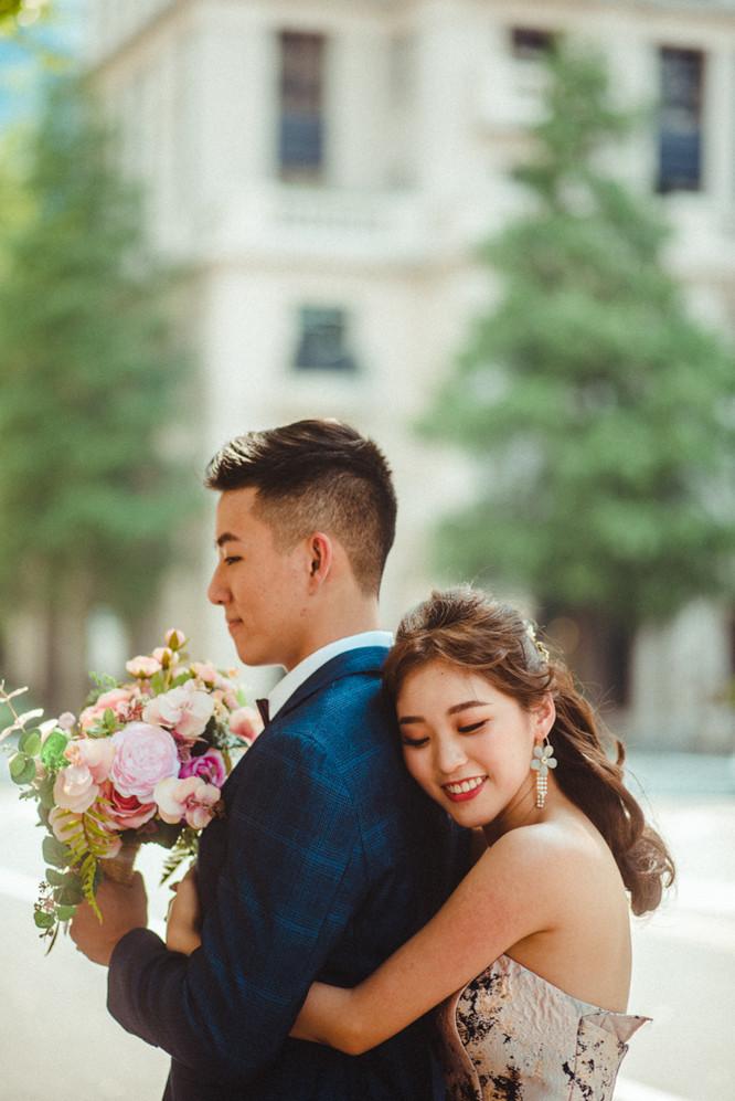 互動甜美婚紗