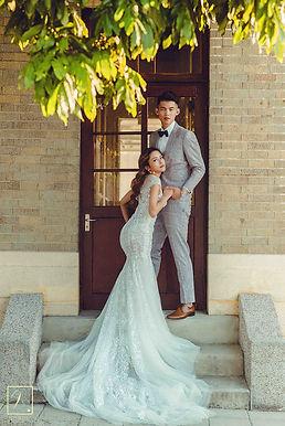 台中帝國製糖廠魚尾白紗禮服婚紗攝影