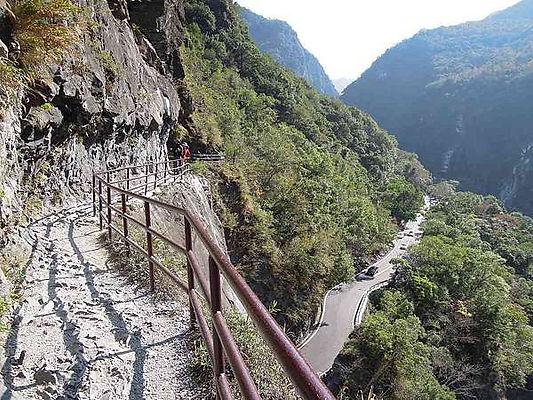 view of Taroko National Park │ Taiwan Marriage Proposal, mountain, sheer gorges