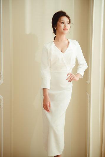 美式簡約直筒婚紗 │ 台中婚紗禮服推薦,台中婚紗攝影,宴客禮服
