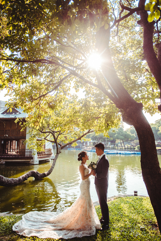 台中公園逆光婚紗攝影