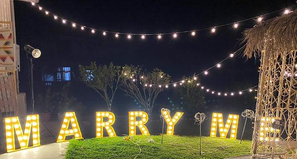 求婚道具租借-天空燈串 │ 苗栗求婚布置、求婚企劃、求婚道具出租