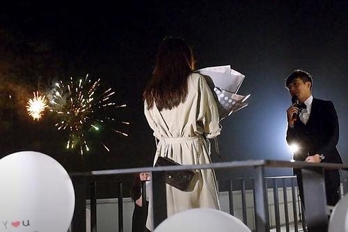 台中求婚企劃之綠朵煙火求婚