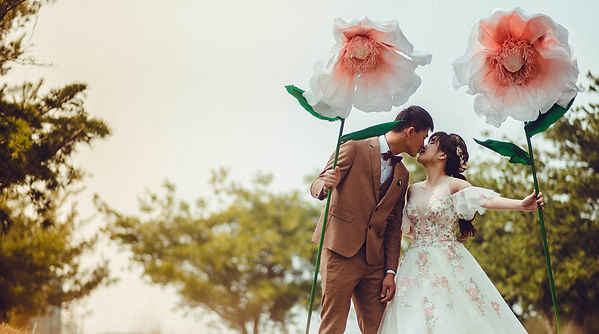 花片刺繡蓬裙禮服 │ 台中婚紗禮服,童話婚紗,甜蜜浪漫婚紗,那一刻北歐婚紗