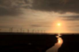 高美濕地夕陽求婚