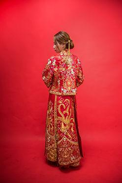 刺繡龍鳳花紋中式龍鳳掛 │ 台中忠是龍鳳掛,台中婚紗禮服出租,台中儀式禮服