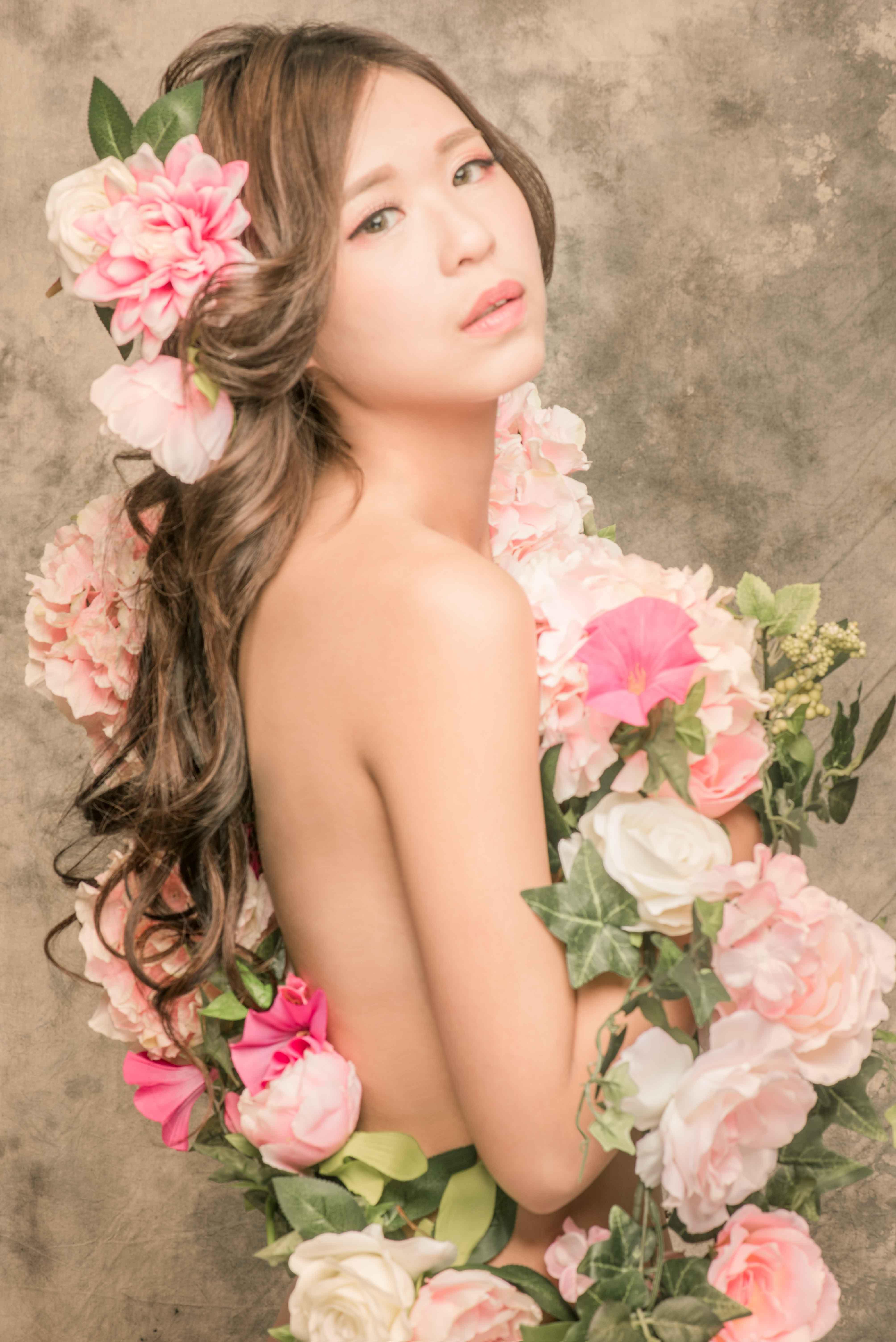 台中韓風孕婦寫真, 台中孕婦寫真花牆, 台中孕婦韓系花牆, 台中孕婦攝影