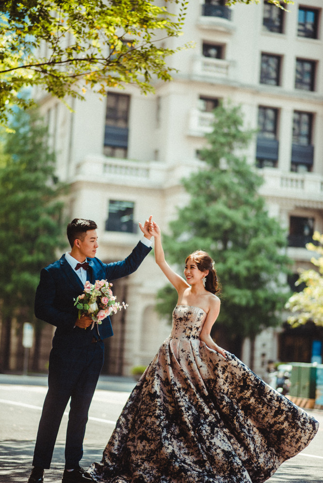 婚紗拍攝動作