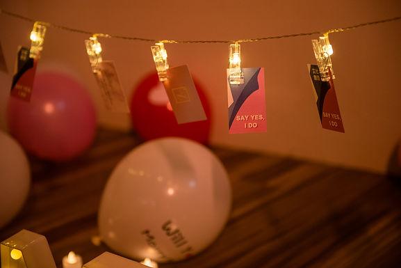 求婚道具出租-照片燈夾串