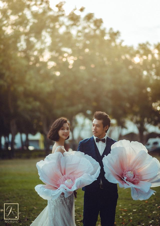 逆光美式婚紗