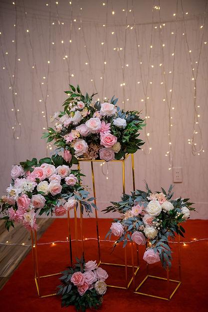 求婚4件組花柱花藝