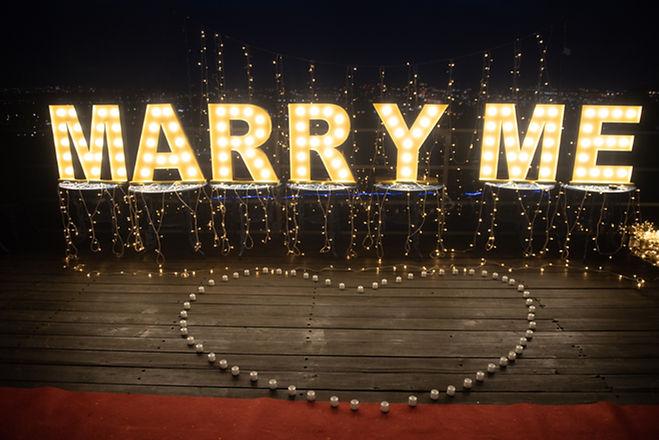 求婚布置場景