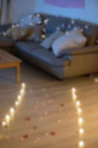 家中求婚佈置-蠟燭燈