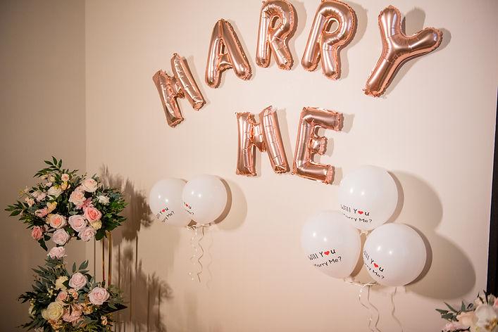 求婚布置-金色marry me金屬氣球