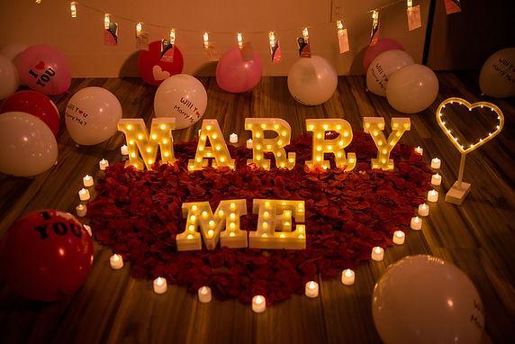 求婚道具租借-marry me小字燈