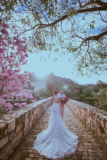台中新社古堡歐式橋梁婚紗攝影外拍