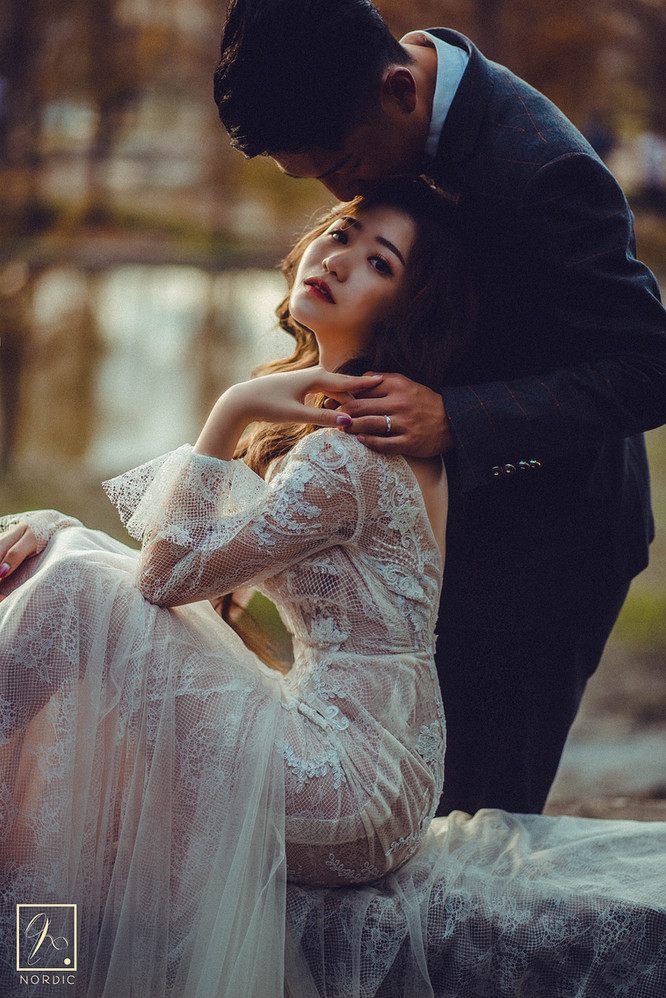 台中落羽松夕陽婚紗攝影