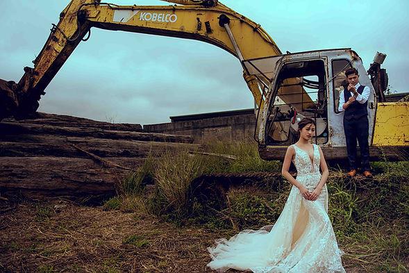 兩穿式透膚蕾絲魚尾婚紗(多層次拖尾) │ 台中婚紗攝影,台中婚紗禮服推薦,那一刻北歐婚紗