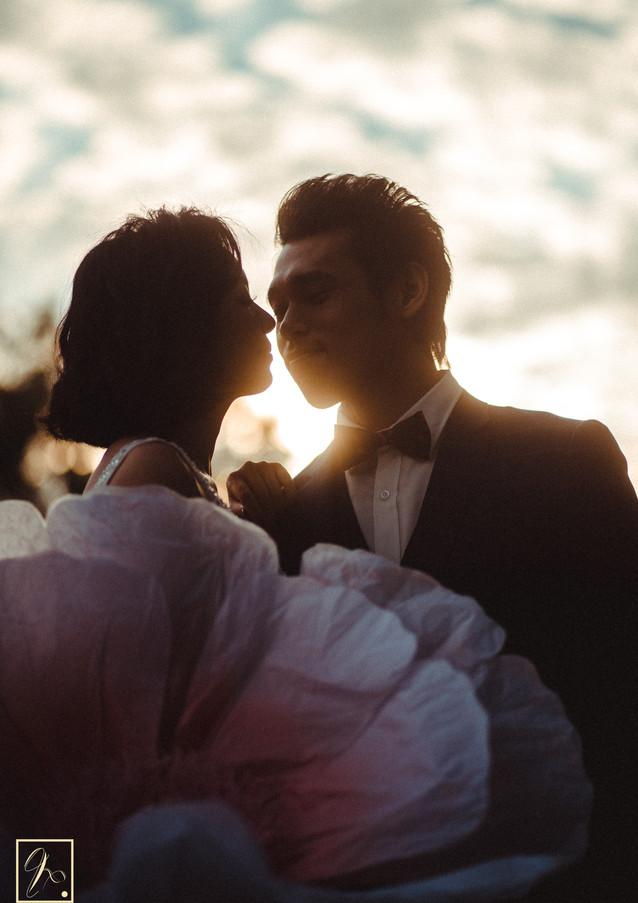 藍天白雲婚紗攝影風格