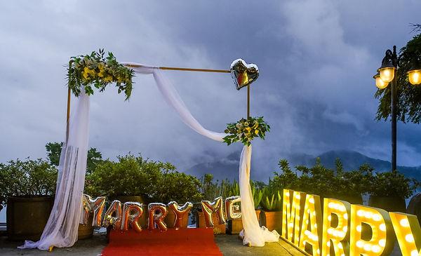 南投北歐印象莊園求婚布置、求婚企劃