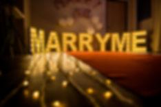 室內求婚佈置