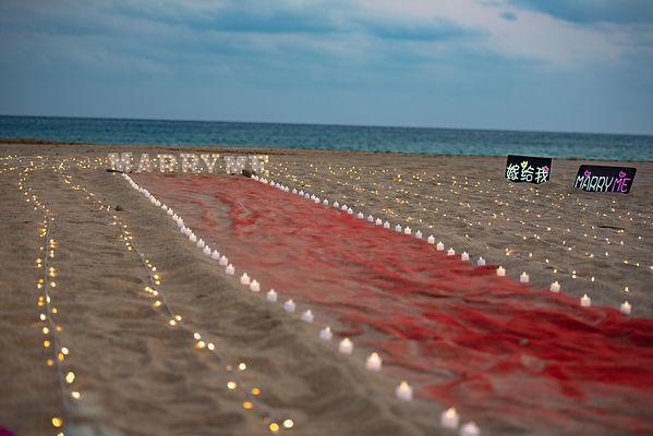 墾丁沙灘求婚規劃、求婚布置