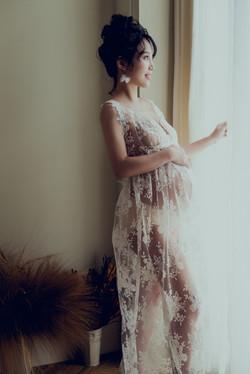 蕾絲孕婦寫真禮服