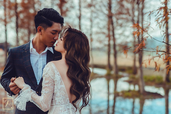 台中九天黑森林拍攝唯美婚紗照