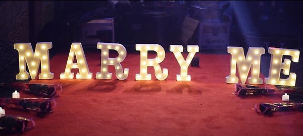 求婚佈置-MARRY ME小型字燈