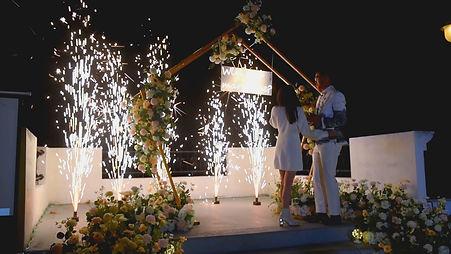 求婚地面煙火、煙火求婚 │ 台中求婚布置、艾杜創意