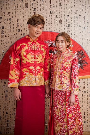 雙人中式龍鳳掛 │ 台中中式婚紗禮服,台中婚紗禮服推薦,那一刻北歐婚紗