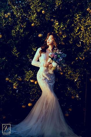 魚尾白紗 │ 台中婚紗禮服出租,手工禮服,精緻禮服,台中那一刻北歐婚紗
