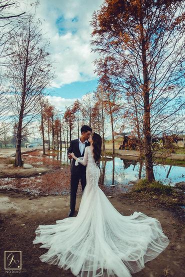 臺中泰安落羽松浪漫婚紗攝影-台中那一刻北歐婚紗