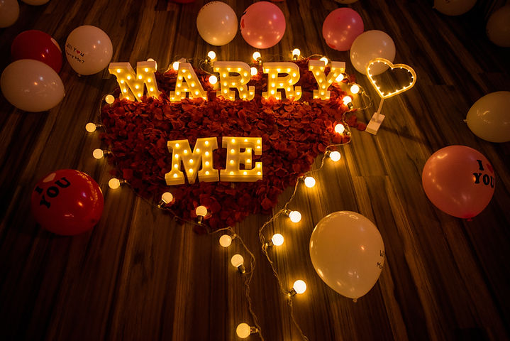 台中求婚道具出租-marry me字燈
