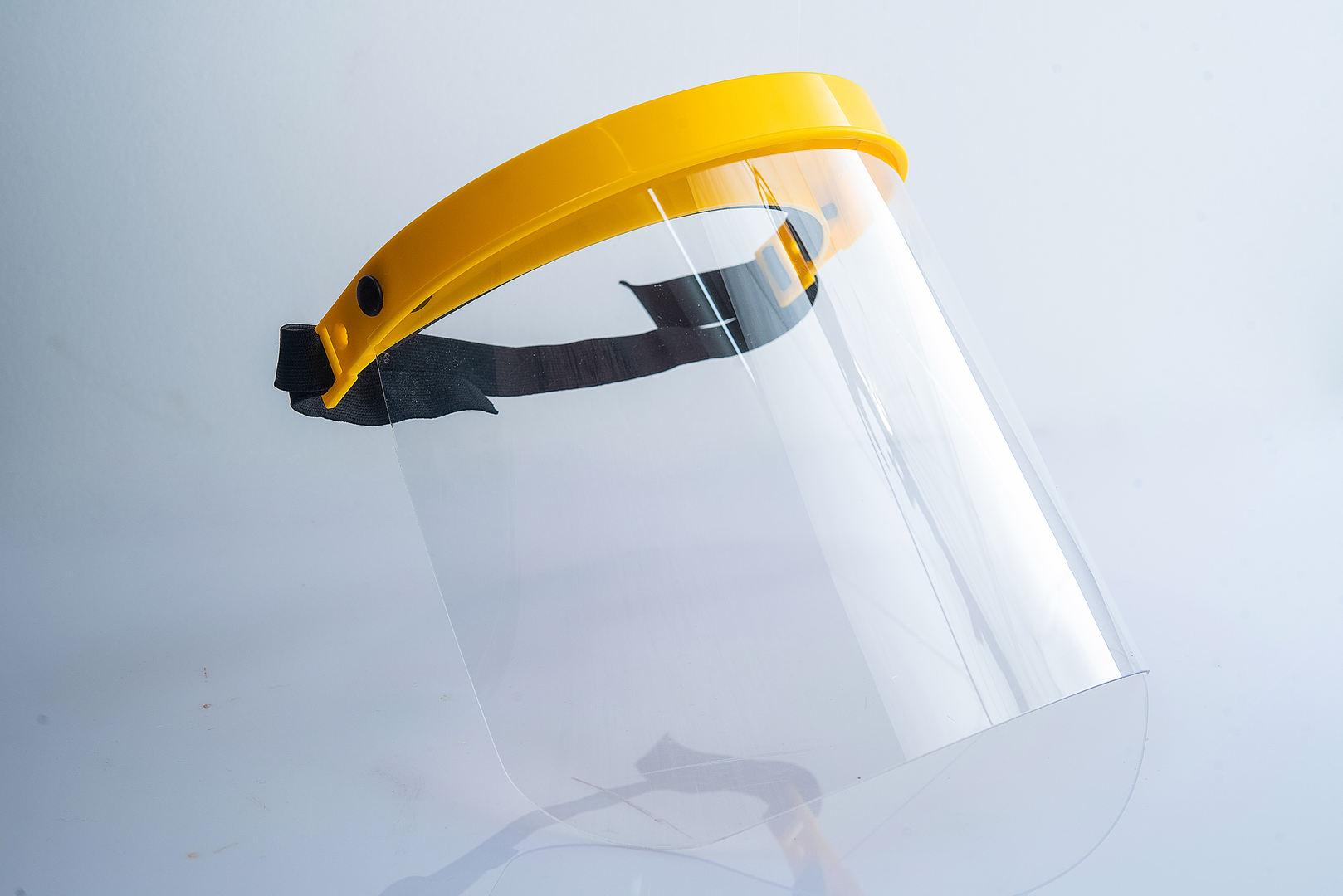 防護面罩產品攝影
