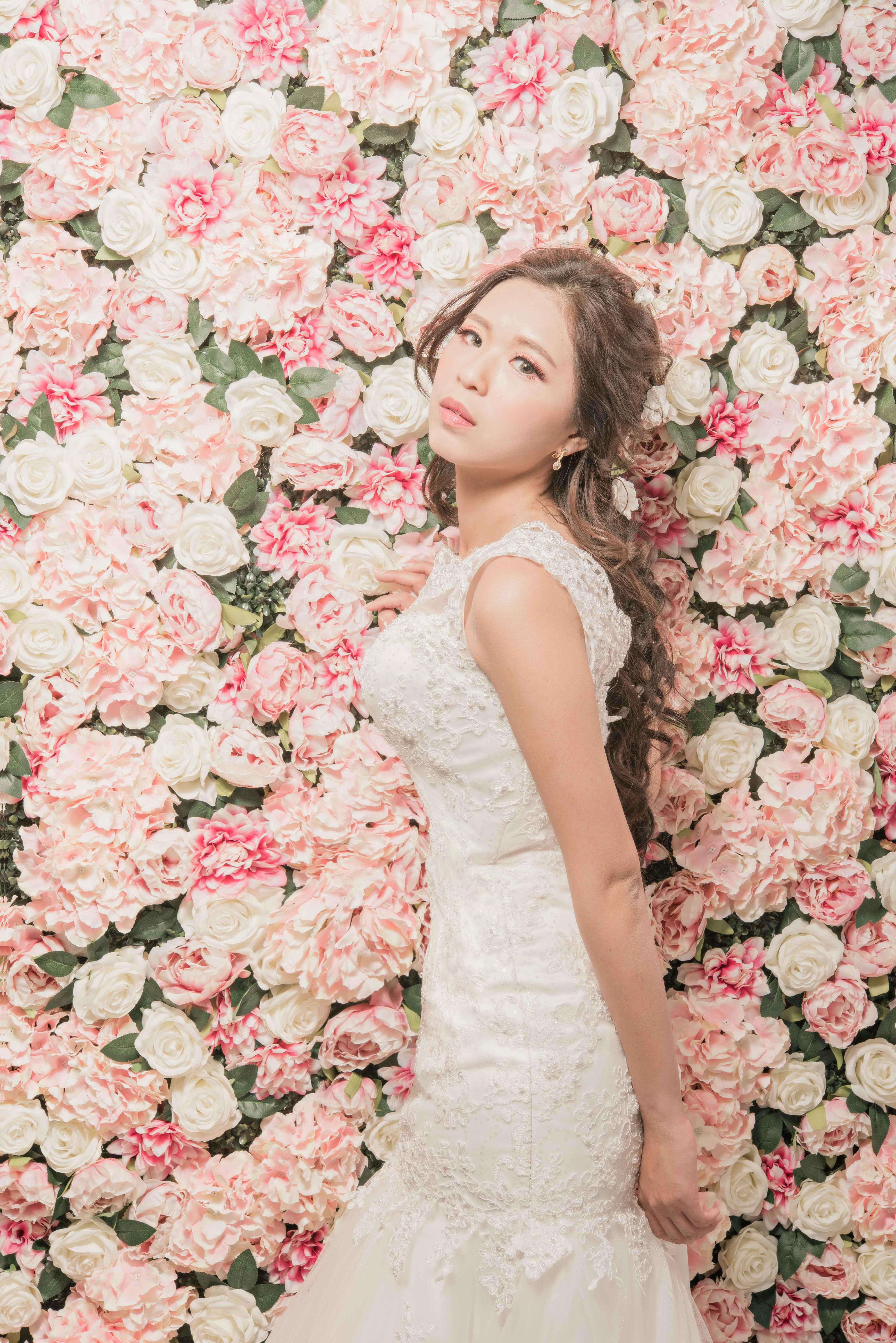 台中婚紗花牆推薦,台中婚紗拍攝,台中婚紗攝影,超美夢幻花牆婚紗