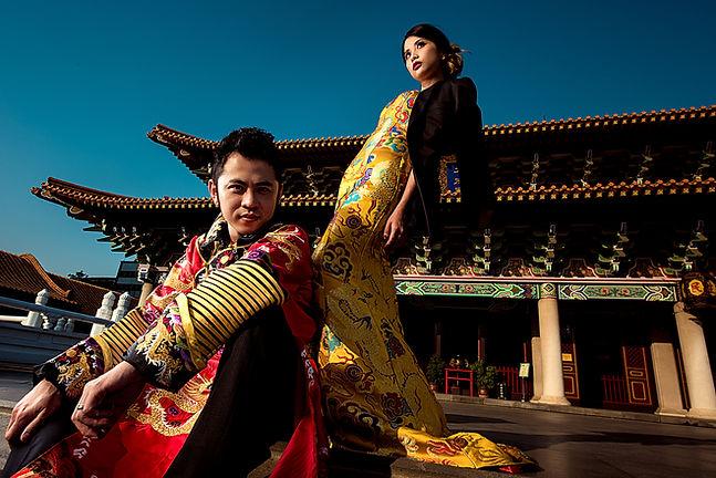 台中孔廟拍攝中式婚紗照