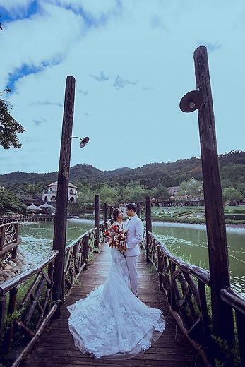 台中新社古堡歐式觀湖步道婚紗攝影-台中那一刻婚紗推薦