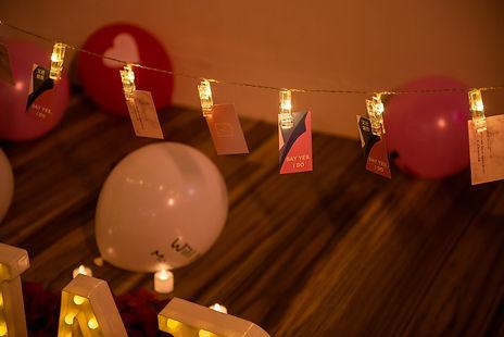 家中求婚佈置-照片燈夾串
