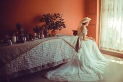 台中復古婚紗,骨董蕾絲婚紗,手工蕾絲復古婚紗攝影,台中婚紗赫本頭