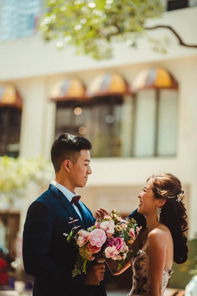 甜美互動婚紗