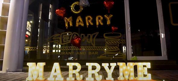 餐廳求婚佈置-字燈