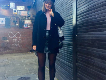 Pink + Patent With A Beret On Top
