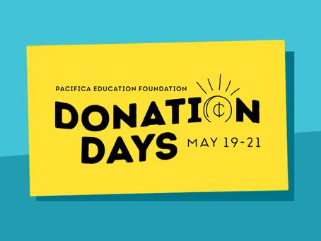 Donation Days May 19 - 21