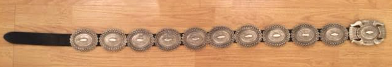 Concho Belt, Navajo, Kenny Red Horse circa 1989