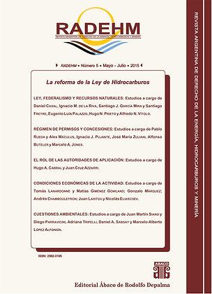RADEHM - Número 5 - Mayo / Julio · 2015 - LEY DE HIDROCARBUROS
