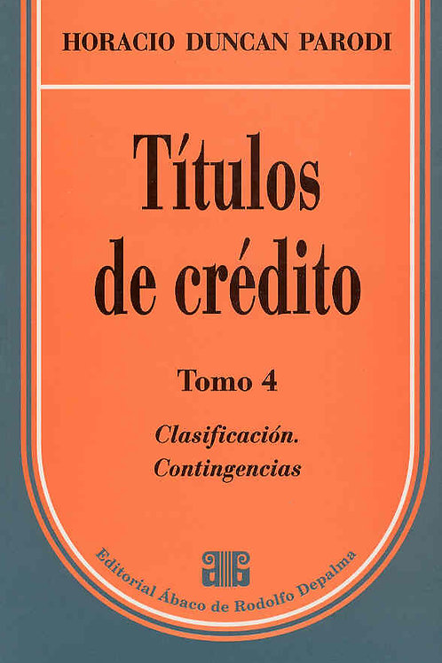 PARODI, HORACIO D.: Títulos de crédito. Tomo 4